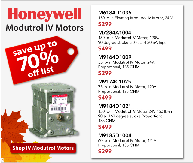 Honeywell IV Modutrol Motors